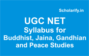 ugc net Buddhist Jaina Gandhian and Peace Studies