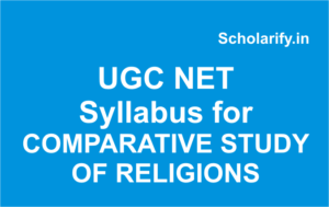 ugc net COMPARATIVE STUDY OF RELIGIONS