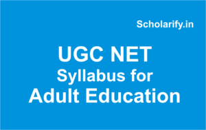 ugc net syllabus adult education