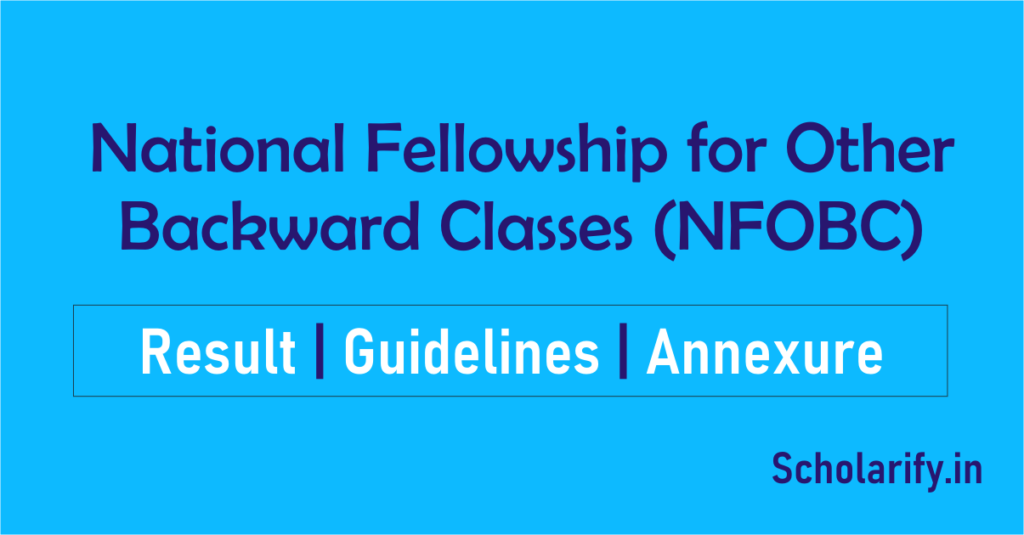 National Fellowship for OBC result