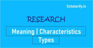 Research Meaning, Types