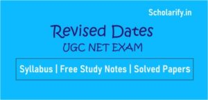 Revised Dates UGC NET Exam