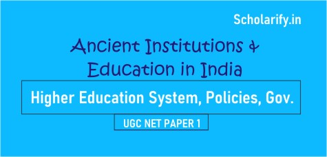 Institutions and Education in Ancient India UGC NET
