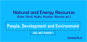 Natural and Energy Resources