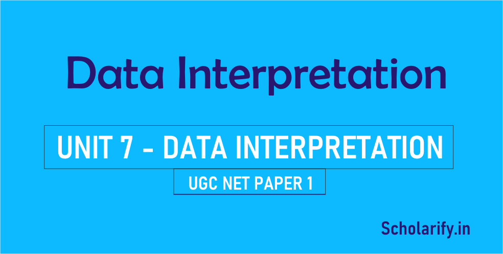 Data Interpretation UGC NET